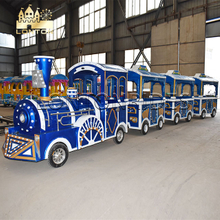 Smurf Trackless train